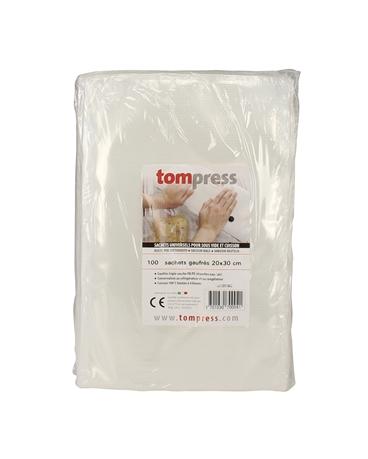 sacs sous vide alimentaires gaufr s tom press 20x30 cm par 100 tom press. Black Bedroom Furniture Sets. Home Design Ideas