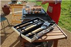 Set barbecue inox et bambou 8 pièces