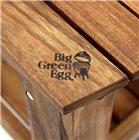 Table en acacia avec support et housse pour Big Green Egg Large