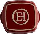 Plat à four carré 23,5 cm céramique Ultime Emile Henry couleur rouge Grand Cru