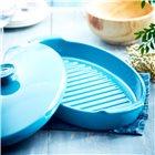 Plat papillote bleu Calanque Emile Henry en céramique