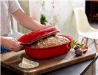 Moule à pain artisan miche et gros pain en céramique rouge Grand Cru Emile Henry + grignette OFFERTE