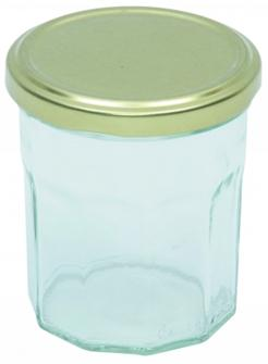 Pots de confiture 200 g. par 12 livrés avec capsules
