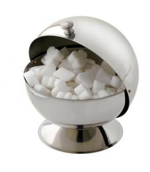 Sucrier en forme de boule