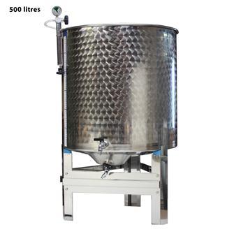 Cuve inox garde vin 500 l. complète