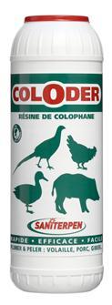 Colophane Coloder pour peler et plumer 600 g.