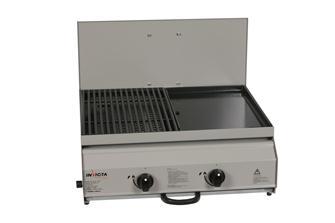 Combiné gril / plancha gaz 10,6 kw