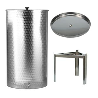 Cuve inox 400 litres + couvercle paraffine + pieds