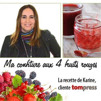 La confiture aux 4 fruits rouges