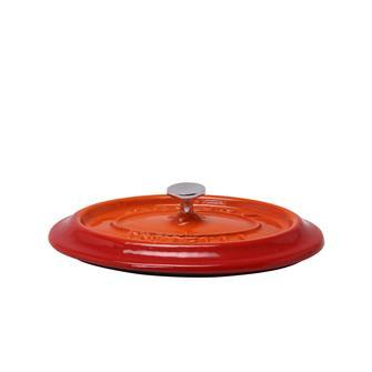 Couvercle ovale orange en fonte
