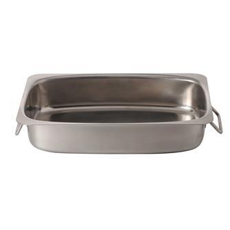 Plat à rôtir inox 35 cm avec fond diffuseur cuisinière plaque et four