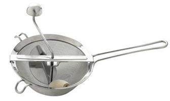 Moulin à coulis ou passoire à groseilles inox 20 cm