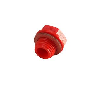 Bouchon rouge étanche pour moteur Reber