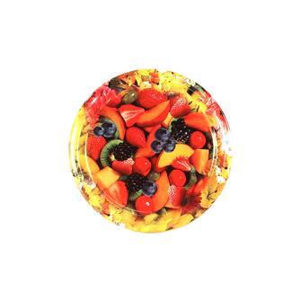 Capsules Twist-off décor fleur et fruit 63 mm par 10