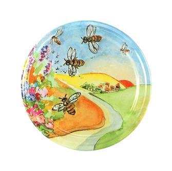 Capsules Twist-off dessin paysage abeille 63 mm par 10
