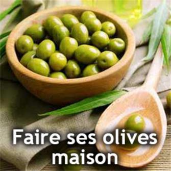 Faire ses olives vertes à la maison.