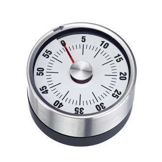 Minuteur inox mécanique aimanté 60 minutes