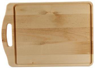 Planche à découper 35x25 cm en hêtre avec poignée