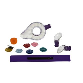 Coffret pour la dégustation du vin aérateur verseurs thermomètre et marque verre