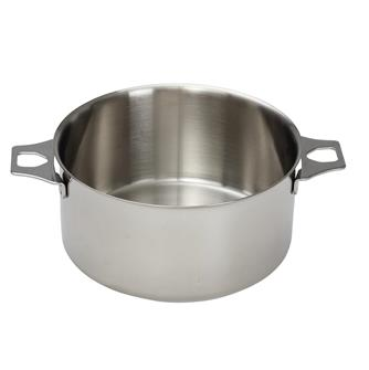 Casserole faitout inox induction 24 cm queue amovible