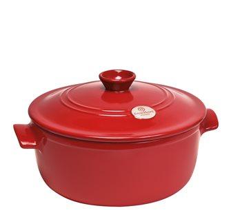 Cocotte ronde céramique 28 cm 5,3 litres rouge Emile Henry