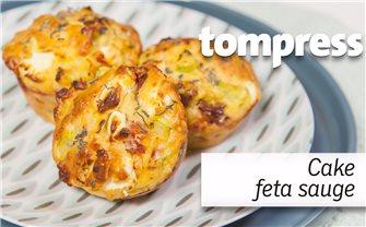 Recette de cakes muffins salés féta et sauge