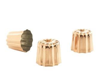 Moules à cannelés Bordelais cuivre petit par 6