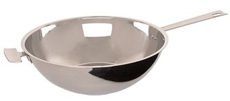 Poêle Wok Baumstal inox induction 28 cm