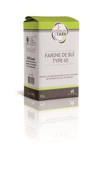 Farine de blé usage courant T65 agriculture raisonnée du Tarn 1 kg