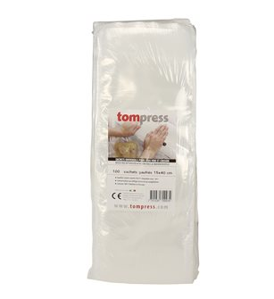 Sacs sous-vide gaufrés alimentaires 15x40 cm Tom Press par 100