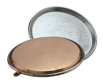 Plat à socca en cuivre 50 cm