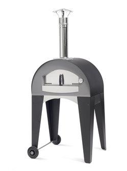 Four à pizza d´extérieur 60x40 cm avec chariot