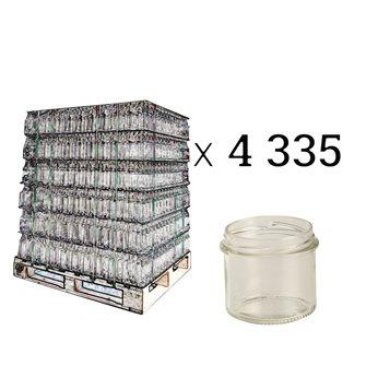 Pot à pâté en verre twist off 90 g. par palette de 4335