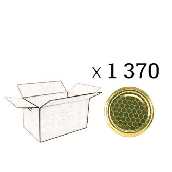 Capsules Twist-off miel alvéoles Diam 63 par 1370
