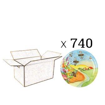 Capsules Twist-off miel abeille paysage fleur Diam 82 par 740
