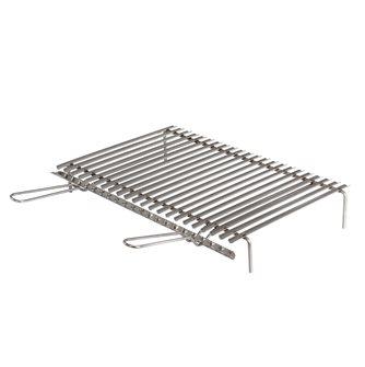 Gril inox barbecue avec récupérateur de graisses de 60x40 cm