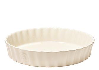 Tourtière haute céramique 24 cm blanc Argile Emile Henry