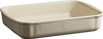 Plat à pâtisserie céramique rectangulaire blanc Argile Emile Henry
