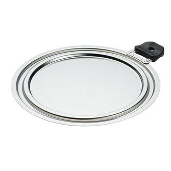 Couvercle 3 diamètres Inox 20, 22, 24 cm