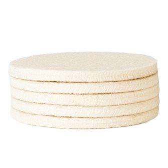 5 feutres de rechange pour tampon d´essuyage pour crépière 7,5 cm