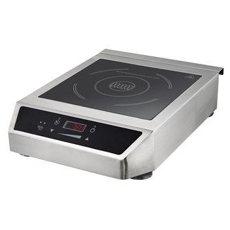 Plaque à induction 3 500 W inox 1 feu pro avec écran digital et minuterie