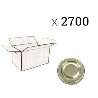 Carton de 2700 capsules dorées de 48 mm
