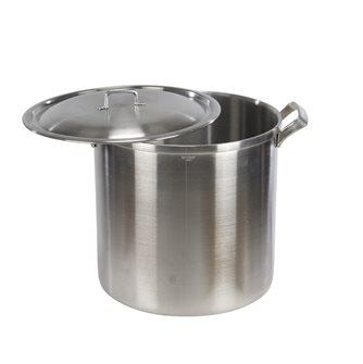 Marmite aluminium à bord carré et poignées aluminium diamètre 36 cm