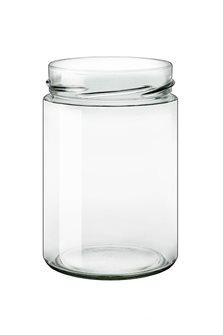 Bocal verre 580 ml diam 85 mm à capsule avec jupe haute par 15