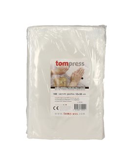 Sacs sous vide alimentaires gaufrés Tom Press 12x20 cm par 100