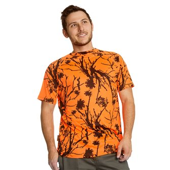 Tee shirt homme respirant Bartavel Diego camo orange M