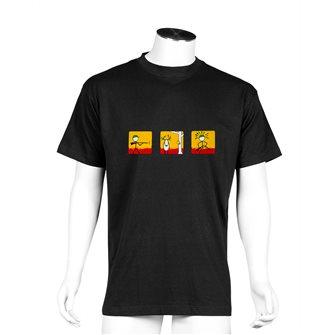 Tee shirt homme Bartavel Nature noir sérigraphie chasseur ayant raté sa cible XL