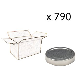 Capsule pour Bocal Jupe Haute diam 66 mm couleur argent par 790