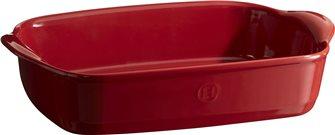 Plat à four rectangulaire petit modèle 30 cm céramique Ultime Emile Henry rouge Grand Cru