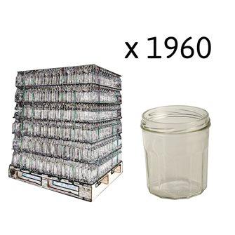 Pots à confitures 12 côtes 324 ml par palette de 1960